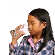 Child drinking clean water